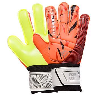 Перчатки вратарские юниорские RESPONSE (PVC, р-р 5-7, цвета в ассортименте)