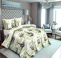 Комплект постельного белья Сатин №с14 Полуторный размер 150х215 см., фото 1
