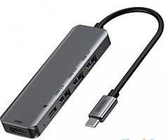 HUB адаптер JOYROOM Type-C SH-C2, 4USB, серый