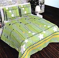 Комплект постельного белья Сатин №с19 Полуторный размер 150х215 см., фото 1