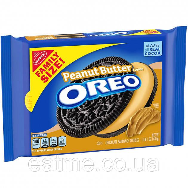 Печенье Oreo Peanut Butter 482g