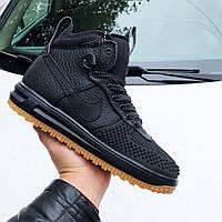 Чоловічі кросівки Nike Lunar Force 1 Duckboot чорні, фото 1