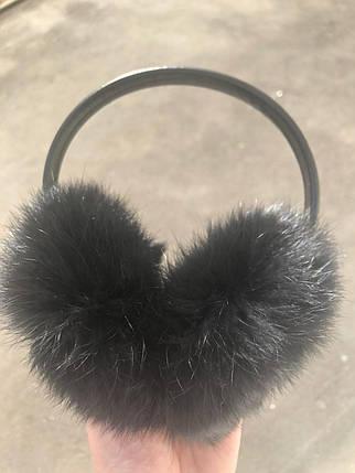 Меховые наушники(чёрный), фото 2