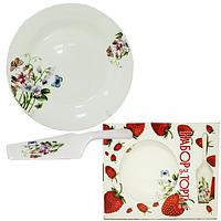 Набор для торта 2пр. Полевые цветы (тарелка 27см и лопатка)