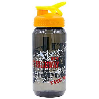 Бутылка для воды спортивная SPORT 500 мл (PC, черный, красный, салатовый)