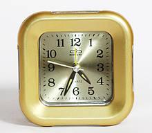 Настольные часы будильник  Ruwang RW 911. Золотистого цвета