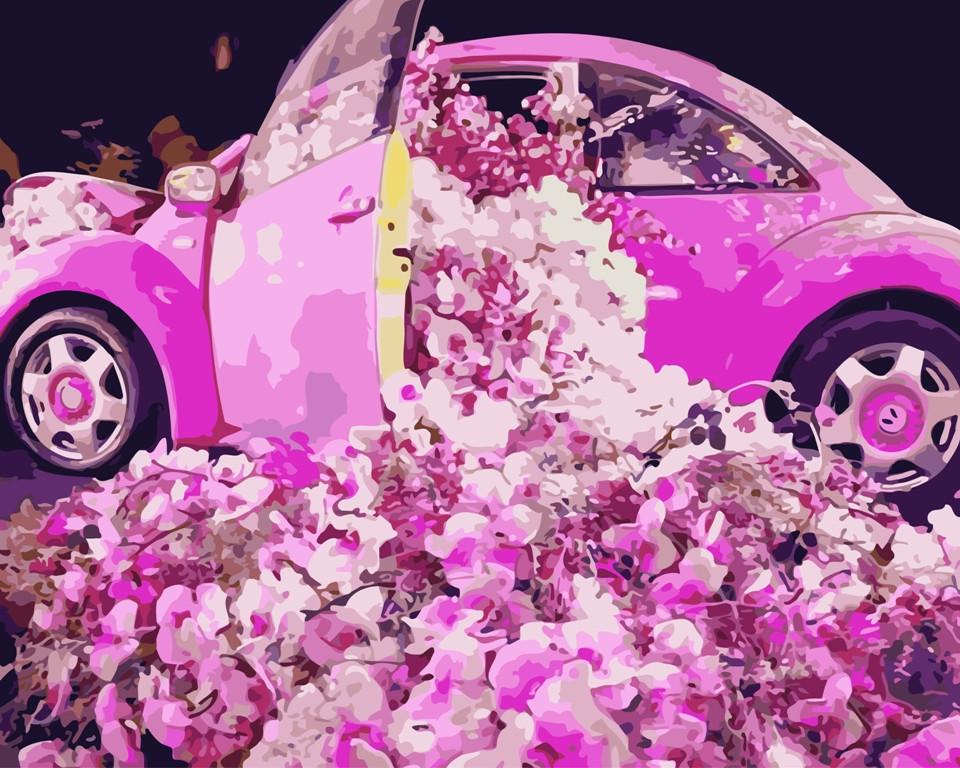"Картина по номерам ""Авто в цветах"" тм Лавка Чудес 40 x 50 см (в коробке) (LC40100)"