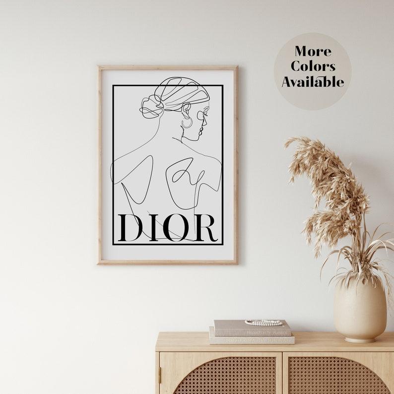 Плакат постер Dior Диор плакат формат А3