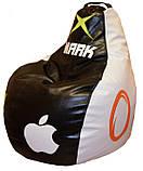 Бескаркасное кресло груша-пуф Андроид мягкое для подростков, фото 7