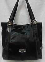 Женская замшевая сумка с элементами меха., фото 1