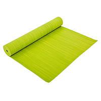 Коврик для фитнеса и йоги PVC 4мм (размер 1,73мx0,61мx4мм, с принтом Полоса, цвета в ассортименте)