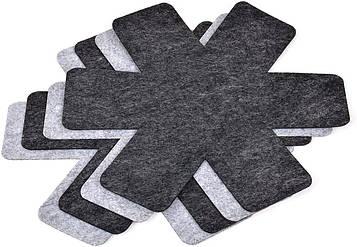 Защита для хранения кастрюль и сковородок Gräwe из искусственного войлока, Ø 38 см, 4 шт.