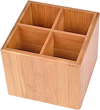 Подставка Gräwe для столовых приборов/кухонных гаджетов с бамбука и с разделителем 12 × 12 x 10 см