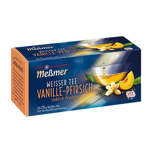 Чай Мессмер ( Meßmer  - Messmer ) белый чай ванильно-персиковый 25 пакетиков