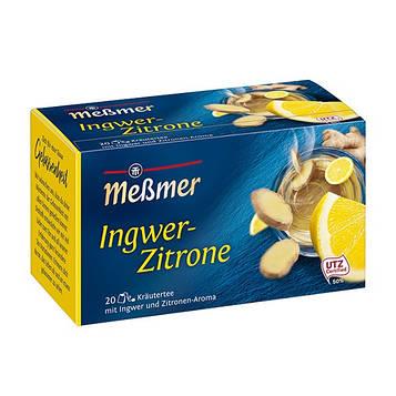 Чай Мессмер ( Meßmer  - Messmer ) травяной чай имбирно-лимонный 20 пакетиков