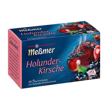 Фруктовый чай Мессмер ( Meßmer  - Messmer ) бузина вишня 20 пакетиков