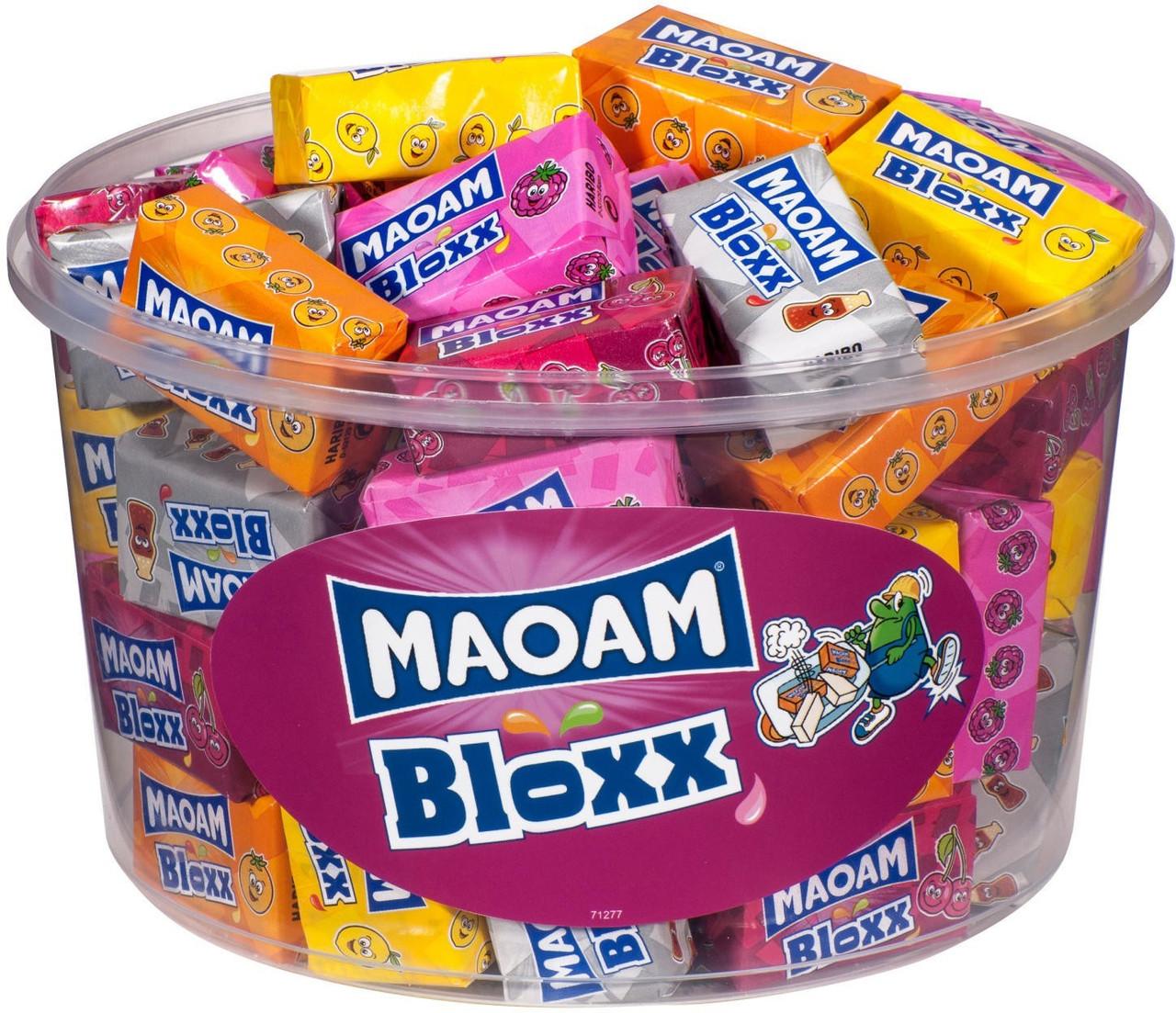 Жувальні цукерки HARIBO Maoam Bloxx кубики різні смаки 50 шт х 22 м (1100 г)