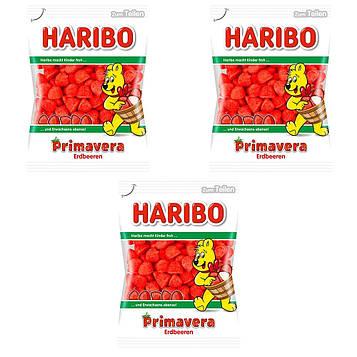 Конфеты жевательные HARIBO Primavera клубника 3 * 200 грамм (600 грамм)