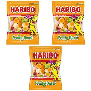 Конфеты жевательные HARIBO Fruity-Bussi фруктовые поцелуи 3 * 200 грамм (600 грамм)