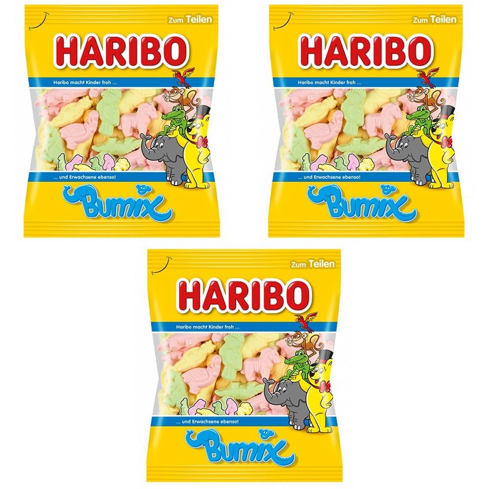 Конфеты жевательные HARIBO Bumix 3 * 200 грамм (600 грамм)