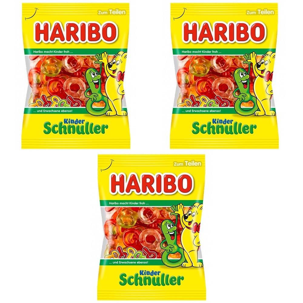 Цукерки жувальні HARIBO Kinder Schnuller дитяча соска 3 * 200 грам (600 грам)