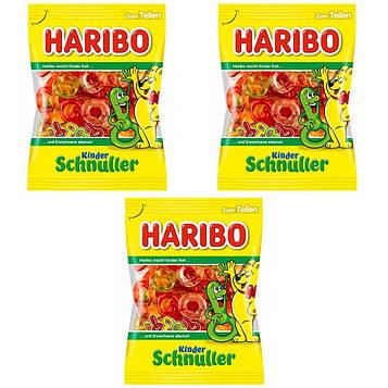 Конфеты жевательные HARIBO Kinder Schnuller детская соска 3 * 200 грамм  (600 грамм)