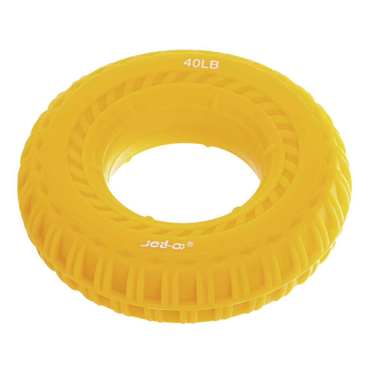 Эспандер кистевой Кольцо 40LB JELLO (силикон, нагрузка 40LB(18кг), желтый)