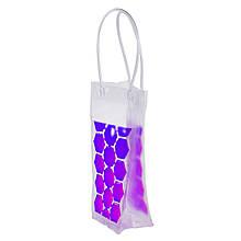 Пакет со льдом для охлаждения напитков фиолетовый