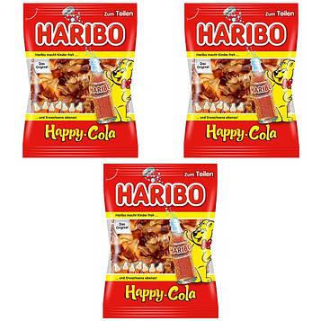 Конфеты жевательные HARIBO Happy-Cola 3 * 200 грамм (600 грамм)