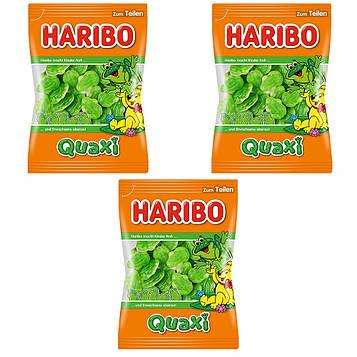 Конфеты жевательные HARIBO Quaxi лягушки 3 * 200 грамм (600 грамм)