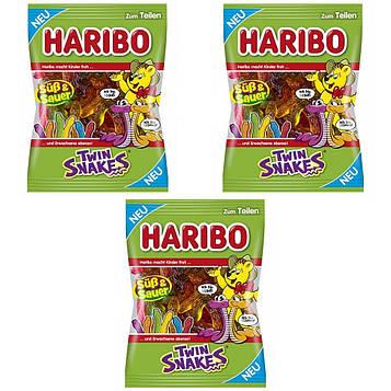 Конфеты жевательные HARIBO Twin Snakes 3 * 175 грамм (525 грамм)