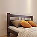 Кровать деревянная двуспальная Геракл с низким изножьем (массив бука), фото 5