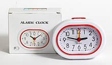 Настольные часы, будильник XINDA-117 с белым корпусом