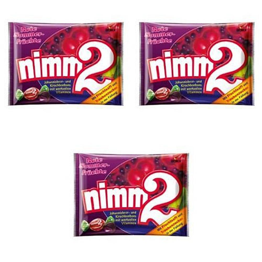 Фруктові льодяники з вітамінами Nimm2 Rote Früchte ягоди 3 * 429 грам (1287 грам)