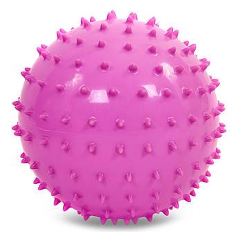 Мяч массажный для фитнеса 23см (резина, 150гр, фиолетовый, синий, розовый)