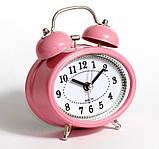 Настільний годинник-будильник SN style-2883 рожевого кольору, фото 3