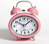Настільний годинник-будильник SN style-2883 рожевого кольору, фото 2