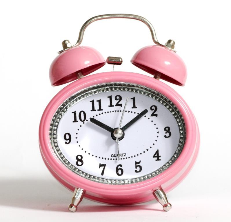 Настільний годинник-будильник SN style-2883 рожевого кольору