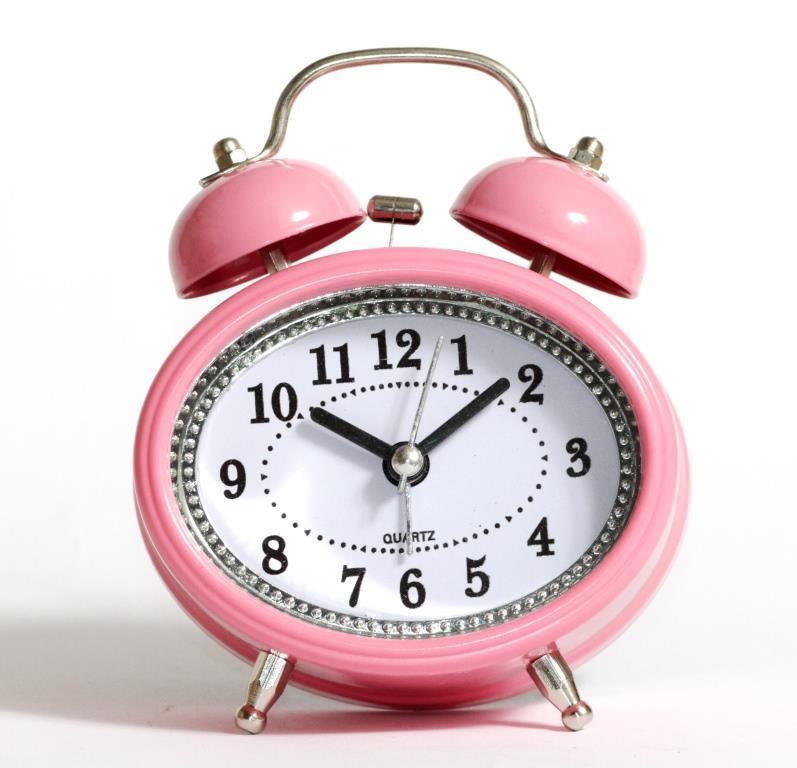 Настольные часы-будильник SN style-2883 розового цвета