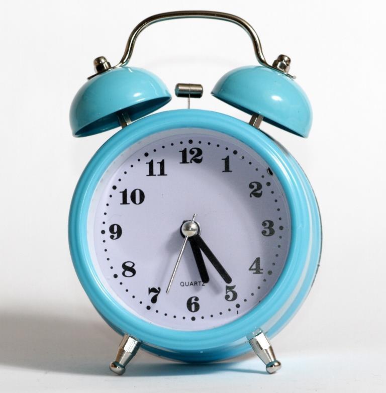 Настольные часы-будильник SN style-2882 голубого цвета