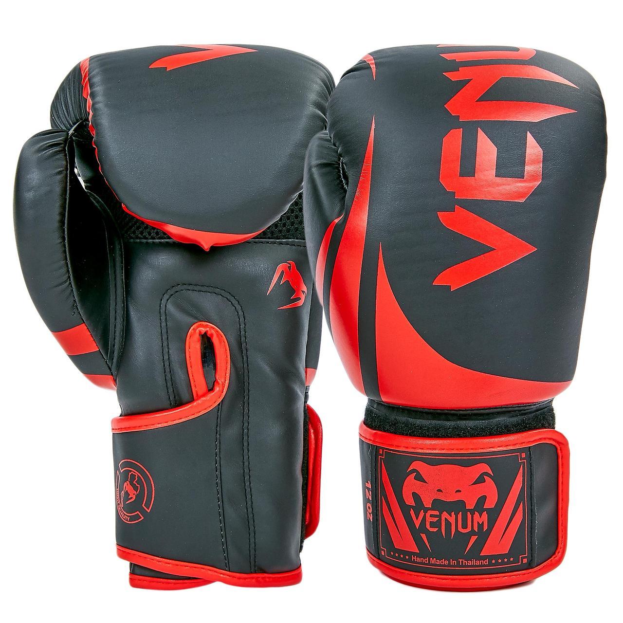 Перчатки боксерские PU на липучке VNM (р-р 8-12oz, цвета в ассортименте)