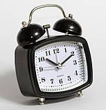 Настільний годинник-будильник SN style-2845 чорного кольору, фото 4