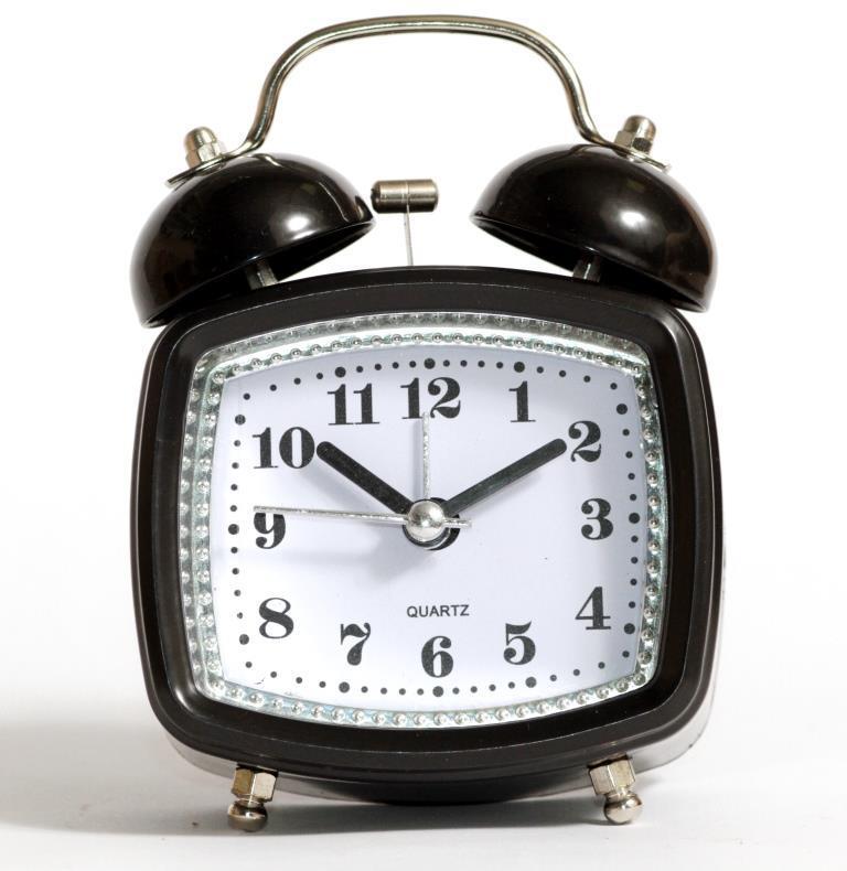 Настольные часы-будильник SN style-2845 черного цвета