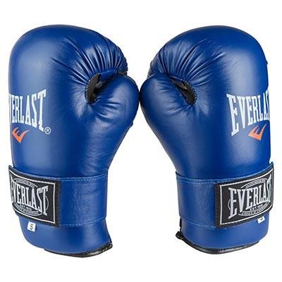 Перчатки для единоборств синие Everlast KungFu, ММА,Flex, размер S