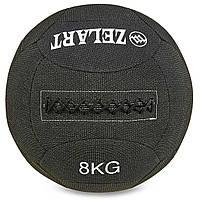 Мяч для кроссфита набивной в кевларовой оболочке 8кг Zelart WALL BALL (кевлар, наполнитель-метал. гранулы,