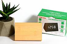 Деревянные настольные цифровые часыVST-864