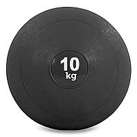 Мяч набивной слэмбол для кроссфита Record SLAM BALL 10кг (резина, минеральный наполнитель, d-23см,черный)