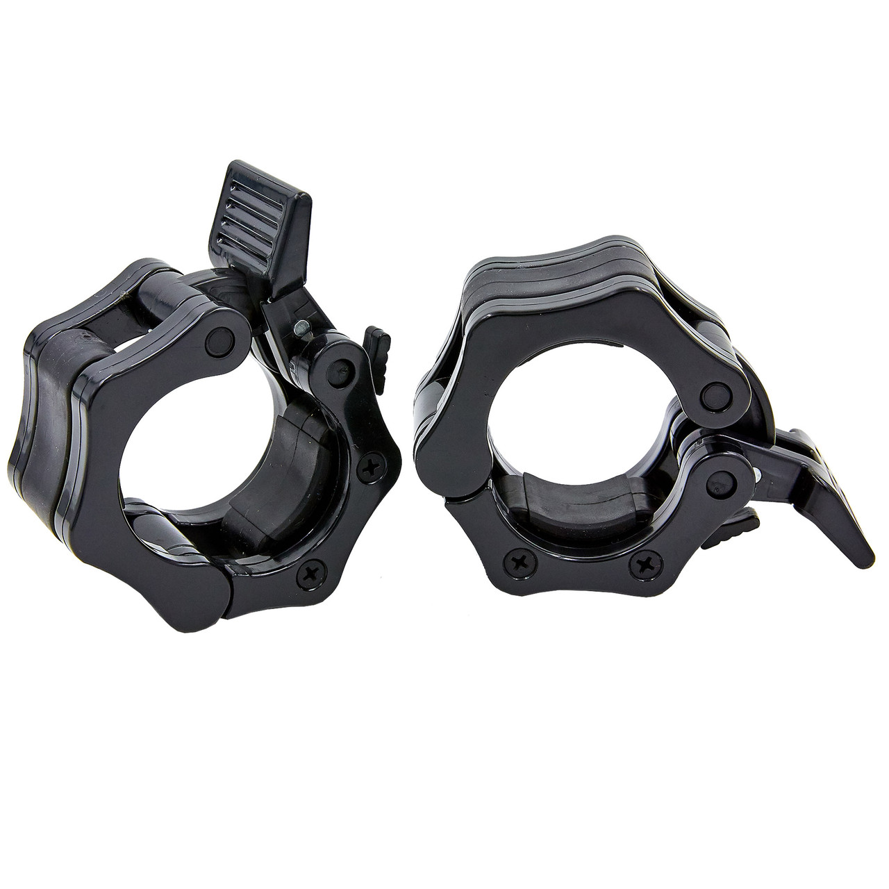 Замки (2шт) Lock-Jaw PRO с фиксатором для грифа 50мм (пластик, цена за 2 шт.)