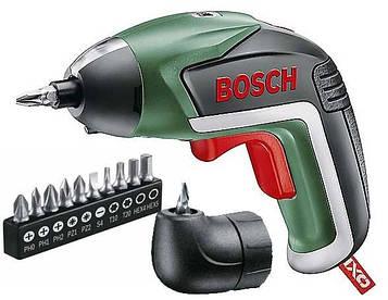 Акумуляторна викрутка Bosch IXO V + кутова насадка