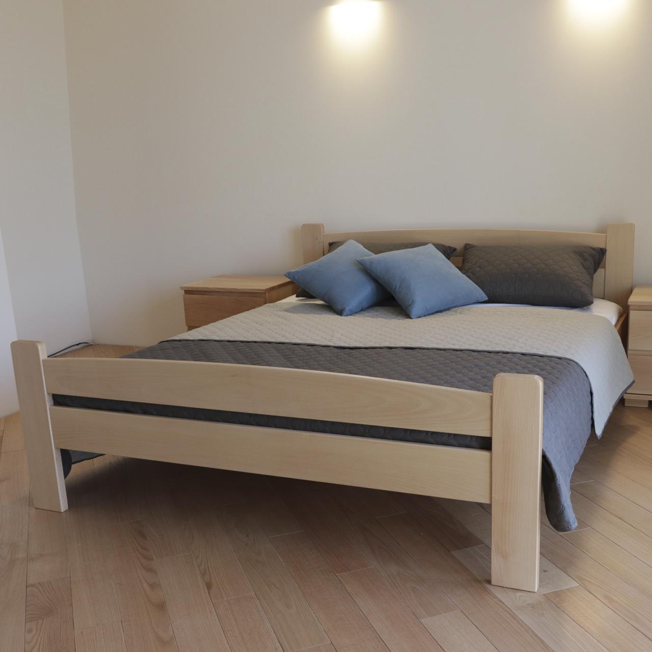 Ліжко дерев'яне двоспальне Каспер (масив бука)